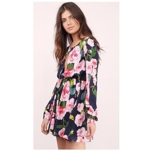 Tobi cute pink floral skater Fit Flare Dress